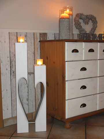 holzwurm kreatives f r haus und garten kerzenst nder. Black Bedroom Furniture Sets. Home Design Ideas
